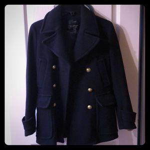 Jcrew coat just like new. Navy blue